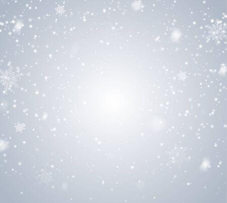 Falling Snow Overlay Background. Snowfall Winter Christmas Background. Vector Illustration.