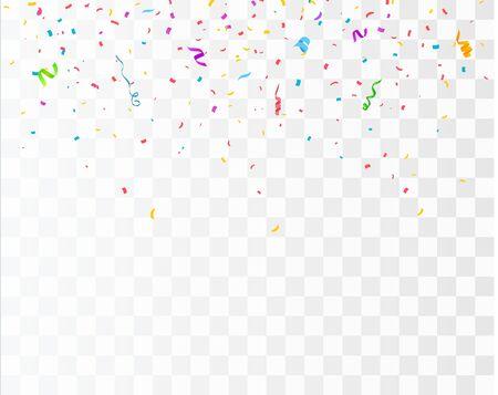 Color Confetti Isolated On White Background. Celebrate Vector Illustration