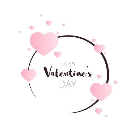 Valentine day banner with heart shapes. Valentine's day sale poster.