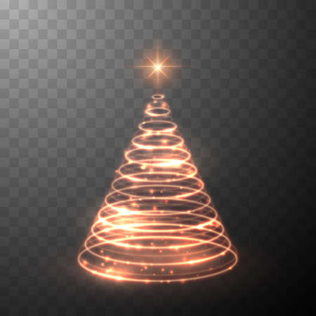 Christmas light tree. Shiny lights sparkles. Merry Christmas and Happy New Year