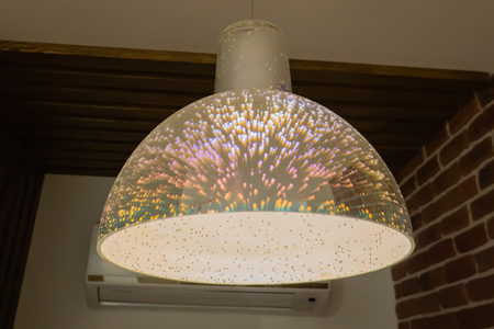 cristal jellyfish chandelier with black background.