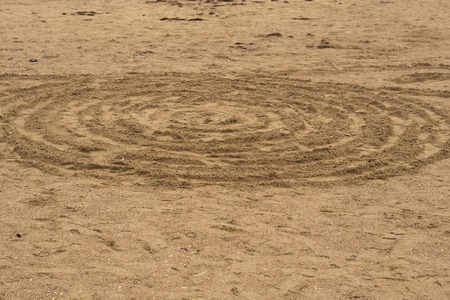 Circle Patterns in Sand.