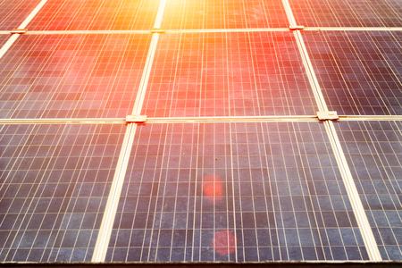 Concept Solar Farm, an alternative energy cell for the future. Stock Photo