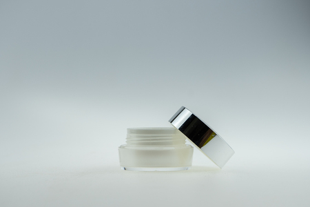 cosmetic bottles for skin care, empty women on a white background isolate