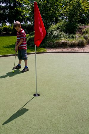 A relaxing day playing putt-putt golf as a child. photo