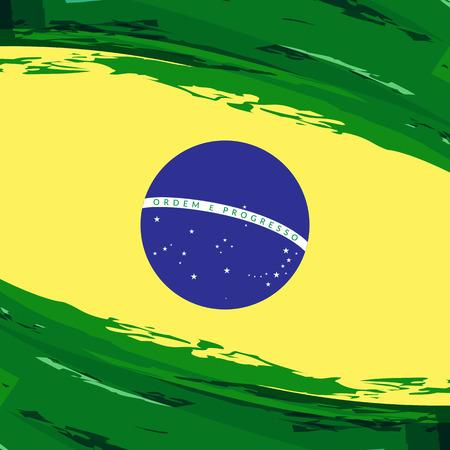 national flag of Brazil watercolor background vector illustration Ilustrace