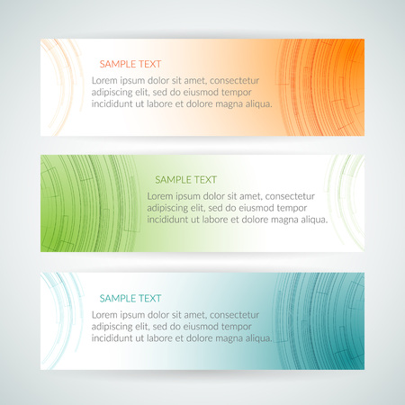 Abstract geometric orange blue green banner Graphic element of the design of templates header business cards banners presentations Vector colorful card Illustration