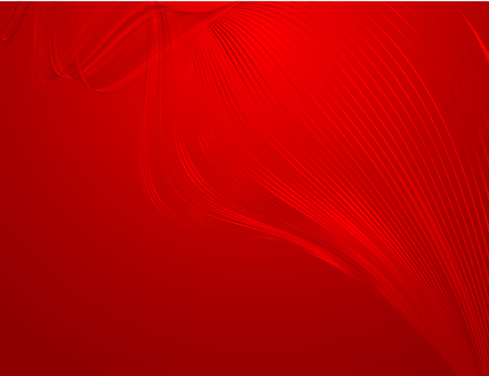 Abstract bright wavy lines on a red background Element for the design of templates banner poster Abstract decorative red background for the holidays with a pattern of wavy bright lines Vector waveform Illustration