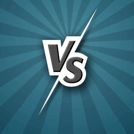 Versus VS logo icon Letter vs on a blue background of line rays Blank template background for team competition battle versus vs logo icon symbol Sports theme design of fight game contest Vector letter