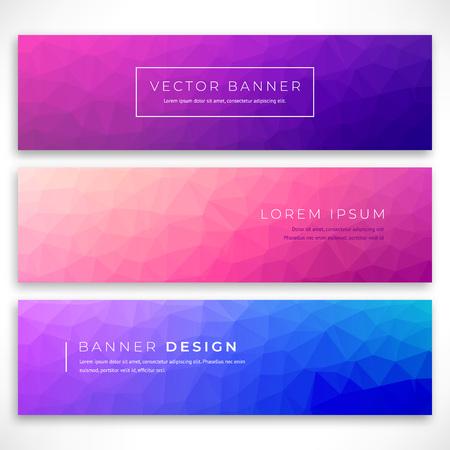 Stellen Sie polygonalen Hintergrund für Site, Broschüre, Banner und Cover ein. Low-Poly-Cover-Design mit minimalem Farbverlauf. Vektorillustration mit niedrigem Polygon