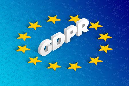 GDPR isometric concept vector illustration. General Data Protection Regulation
