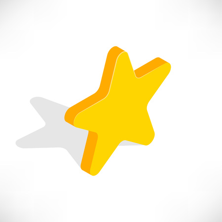 Isometric star icon