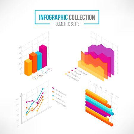 Isometric data tools finance diagram