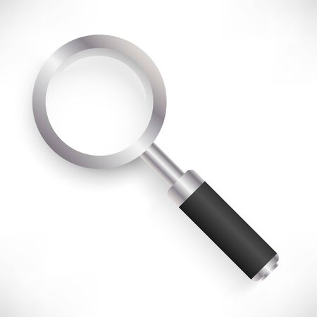Magnifying glass top view Ilustracja