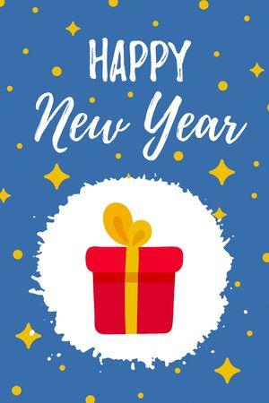 Happy New Year Greeting Card gift box