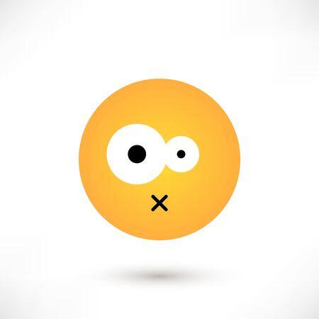 Disgust emoticon round
