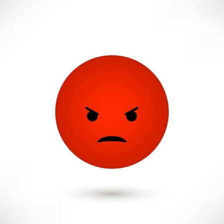 Angry emoticon round