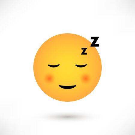 Sleep emoticon round