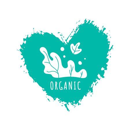 Hand drawn organic logo template brush spot