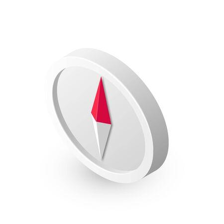 Vector compass icon isometric Çizim