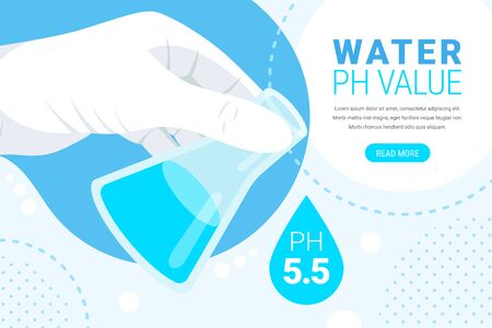 Water ph value concept