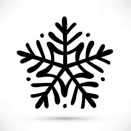 hand drawn snowflake icon design
