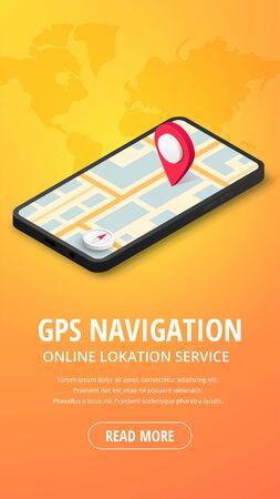 GPS Navigation vertical banner