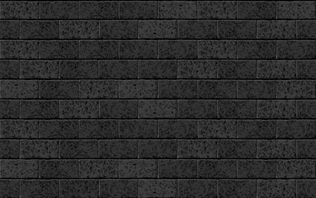 Realistic Vector brick wall seamless pattern. Black textured brick background for print, paper, design, decor, photo background texture