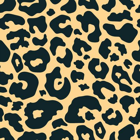 Trendy leopard seamless pattern. Hand drawn wild animal cheetah skin brown texture for fashion print design, fabric, textile, cover, wrapping paper, background, wallpaper. Vector illustration.