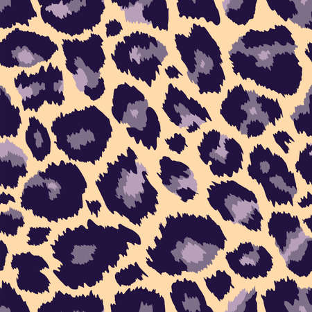 Vector Trendy leopard skin seamless pattern. Abstract hand drawn wild animal cheetah spots yellow repeat texture. Use for fashion print design, fabric, cover, wrapping paper, background, wallpaper. 矢量图像