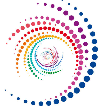 whirlwind design, abstract colorful swirl