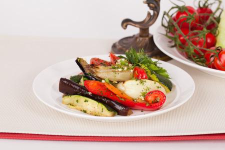 heathy diet: Italian vegetarian salad with vegetables on a plate
