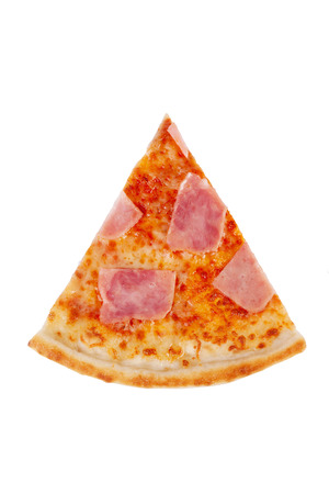 pizza with margarita, cheese, ham for the menu on a white background photo