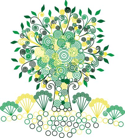 fantasy: with decorative elements fantasy tree Illustration