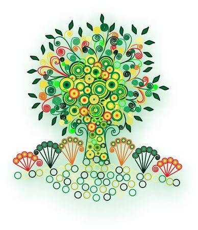 fairy tree: fairy tree in bloom