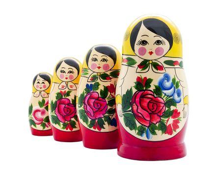 matrioshka doll isolated on white photo