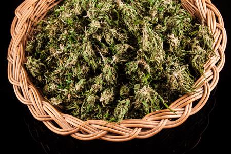 Marijuana on a black background photo