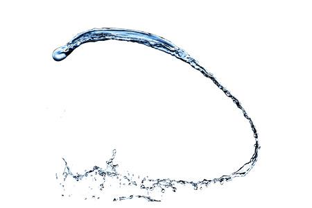blauw water splash geïsoleerd op witte achtergrond Stockfoto
