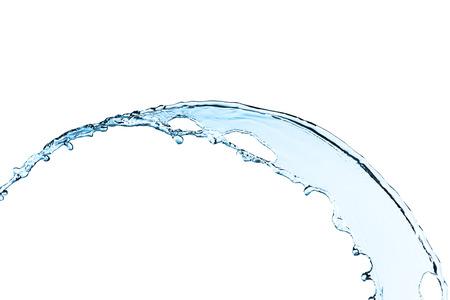 Blauwe waterplons die op witte achtergrond wordt geïsoleerd Stockfoto - 36188364