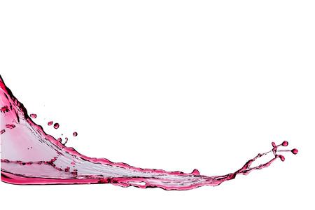 rood water splash geïsoleerd op witte achtergrond Stockfoto