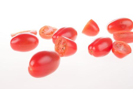 heathland: heathland tomatoes on an isolated white background Stock Photo