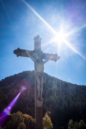 glorify: Cross of Jesus Christ in the sunshine