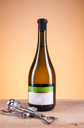 bottle of good white wine