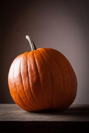 Halloween pumpkin on a gray background Stock Photo