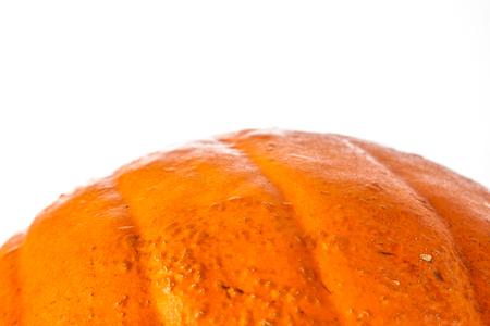 Big detail Halloween pumpkin on a white background