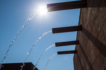 splashing water at the water fountain Stockfoto