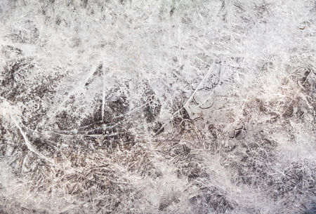 frozen water level - details of ice crystals Stock Photo