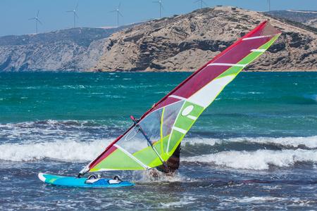 windserfing aegean sea kiss of two seas