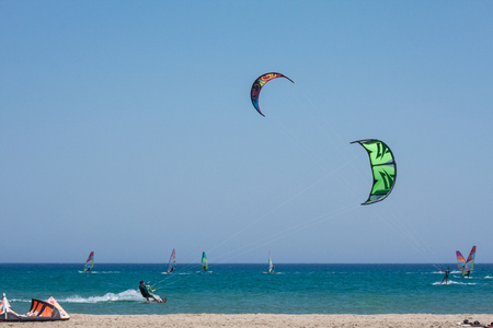 Kite surfing, Aegean Sea, kiss of two seas