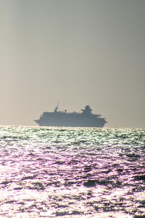 overseas ship in the Aegean Sea